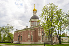Orthodox temple of the Russian Church in Moscow Royalty Free Stock Photos