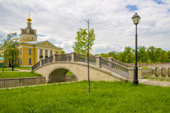 Orthodox temple of the Russian Church in Moscow Stock Photos