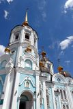 Orthodox temple of saint Alexander in Kharkiv Ukraine. Orthodox temple of saint Alexander in city Kharkiv Ukraine. Temple in a bright sunny summer day on a blue Royalty Free Stock Photography