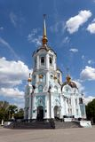Orthodox temple of saint Alexander in Kharkiv Ukraine. Orthodox temple of saint Alexander in city Kharkiv Ukraine. Temple in a bright sunny summer day on a blue Stock Photography