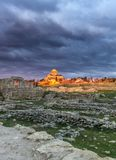 Orthodox temple at senset Royalty Free Stock Photo