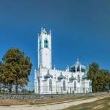 Orthodox temple. Ukraine. Spaso-Preobrazhenskaya church, village Moshny, Cherkasy region, Ukraine. Built in 1836 Architect Giorgio Torricelli. Orthodox temple Royalty Free Stock Photography