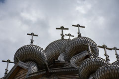 Orthodox temple wooden. Royalty Free Stock Photography
