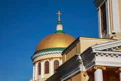 Orthodox Transfiguration Cathedral in Dnepropetrovsk. Transfiguration Cathedral Preobragenskiy in Dnepropetrovsk Dnepr, completed in 1835, architectural monument royalty free stock photo