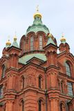 Orthodox Uspensky Cathedral in Helsinki. Finland Royalty Free Stock Photography