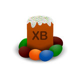 Orthodox vector easter cake. Royalty Free Stock Images