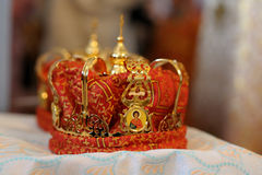 Orthodox wedding accessories Royalty Free Stock Image