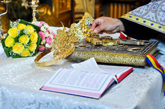 Orthodox wedding accessories Royalty Free Stock Images