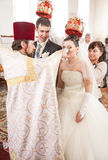 Orthodox wedding ceremony Stock Photos