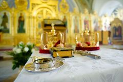 Orthodox wedding objects Royalty Free Stock Image