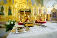 Orthodox wedding objects Royalty Free Stock Image