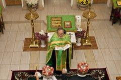 Orthodox wedding process royalty free stock photo