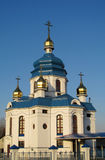 Orthodox white blue Church Stock Image
