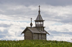 Orthodox wooden chapel of Holy Face in Kizhi. Orthodox wooden chapel of Holy Face from Vigovo village in Kizhi, Karelia, Northern Russia Royalty Free Stock Photos