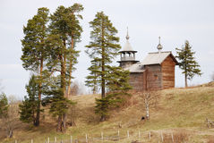 Orthodox  wooden church Stock Image
