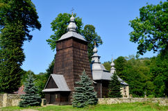 Orthodox. Wooden church in Chyrowa Stock Images