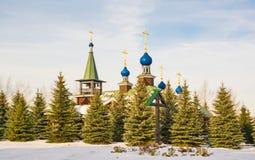 Orthodox wooden church Stock Photos