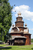 Orthodox wooden church Royalty Free Stock Images