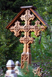 Orthodox wooden cross. Beautiful decorated Orthodox wooden cross Stock Images