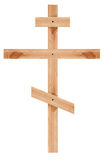 Orthodox wooden cross Royalty Free Stock Photos