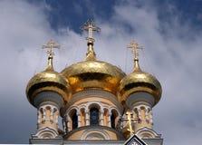 Orthodoxe catherdral van Yalta Stock Afbeeldingen