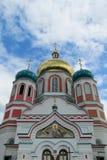 Orthodoxe christelijke kerk in Uzhorod, de Oekraïne stock afbeelding