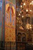 orthodoxe de fresque d'église vieil Photographie stock