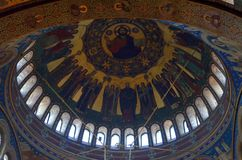 Orthodoxe Haube der Kathedrale in der alten rumänischen Stadt Lizenzfreies Stockbild