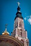 Orthodoxe Hauptkirche in der Stadt von Charkiw Lizenzfreies Stockfoto