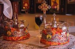 Orthodoxe Hochzeits-Kronen Lizenzfreies Stockbild