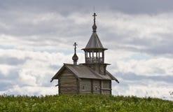 Orthodoxe houten kapel van Heilig Gezicht in Kizhi Royalty-vrije Stock Foto's