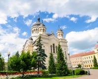 Orthodoxe Kathedraal in Cluj Napoca, het gebied van Transsylvanië van Roemenië Stock Foto's
