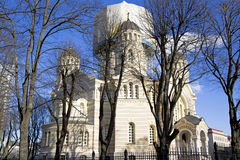 Orthodoxe Kathedraal in Riga Royalty-vrije Stock Foto's