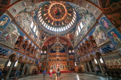 Orthodoxe Kathedraal in Sibiu in Roemenië Stock Afbeelding