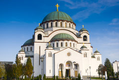 Orthodoxe Kathedraal van Heilige Sava Royalty-vrije Stock Afbeeldingen