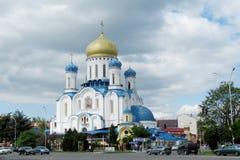 Orthodoxe Kathedraal van het Heilige Kruis in Uzhorod stock afbeeldingen