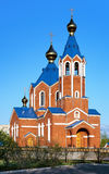 Orthodoxe Kathedrale in Komsomolsk-auf-Amur Stockfotos