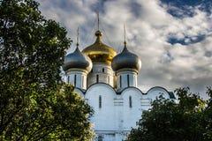 Orthodoxe Kathedrale in Monodevichy-Kloster Stockfotografie