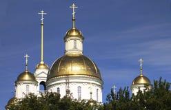 Orthodoxe Kathedrale in Russland stockbilder