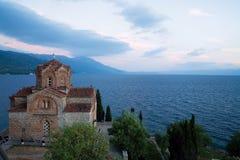 Orthodoxe kerk bij Meer Ohrid Royalty-vrije Stock Afbeelding