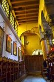 Orthodoxe kerk binnenlands Griekenland stock afbeelding