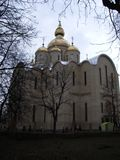 Orthodoxe kerk in Cherkasy in de centrale Oekraïne stock afbeelding