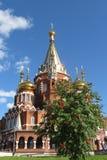 Orthodoxe kerk in de stad van Izhevsk, Rusland Royalty-vrije Stock Foto's