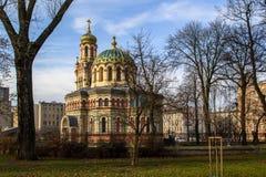 Orthodoxe kerk in de stad van Lodz, Polen stock fotografie