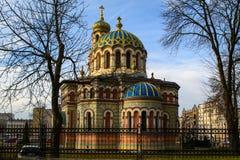 Orthodoxe kerk in de stad van Lodz, Polen stock foto