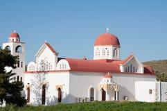 Orthodoxe kerk in Engares dorp, Naxos, Griekenland Royalty-vrije Stock Foto