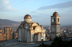 Orthodoxe kerk in Kosovo Stock Foto