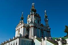 Orthodoxe kerk op Podol, in Kyiv stadscentrum Stock Afbeelding