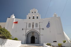 Orthodoxe kerk in Santorini, Grece Royalty-vrije Stock Afbeelding