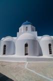 Orthodoxe kerk in Santorini, Grece Stock Afbeelding